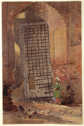 Nailed gateway of Gironda Serai, near Delhi. 25 February 1873